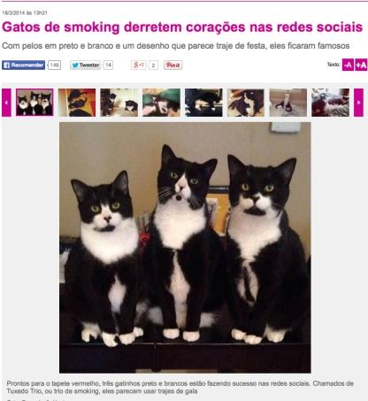 TuxedoTrio featured on Portuguese website