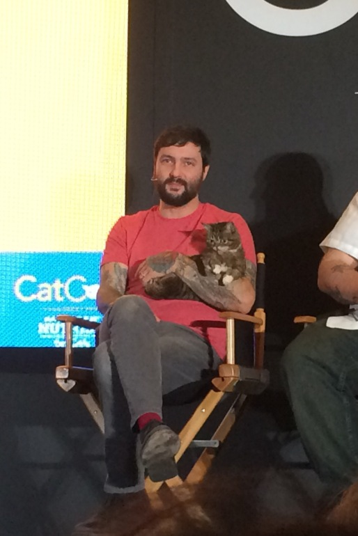 Mike with Lil Bub