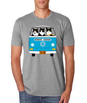 Image of man wearing TuxedoTrio tee-shirt