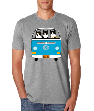Image of man wearing TuxedoTrio tee-shirt