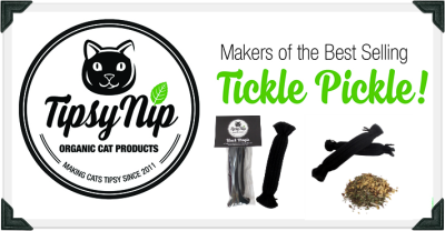 "Image shows Tipsy Nip logo. Text reads ""Makers of the Best Selling Tickle Pickle!"""