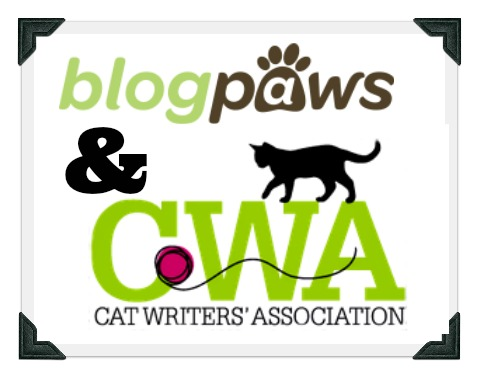 BlogPaws logo & Cat Writers' Association logo